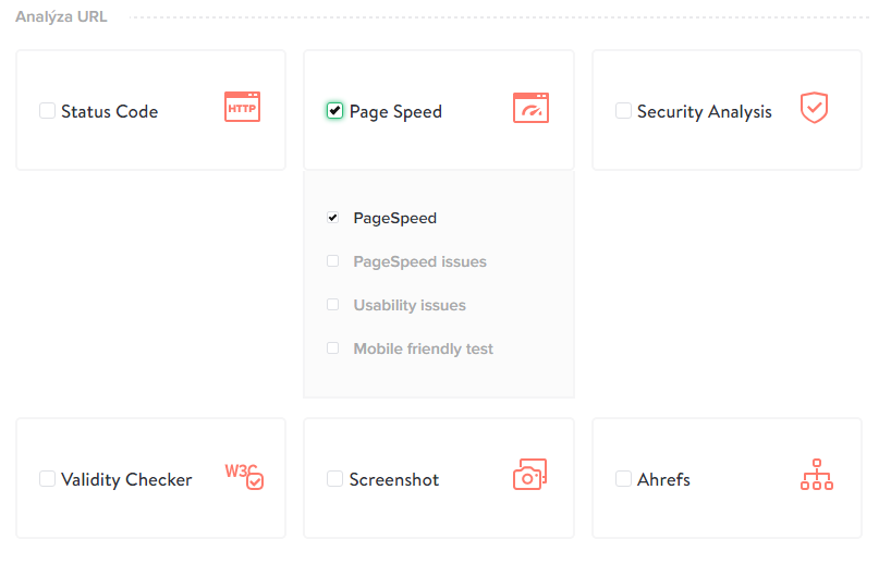 Selection of PageSpeed miner