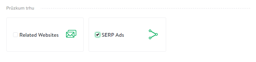 Example of selection of SERP Ads miner