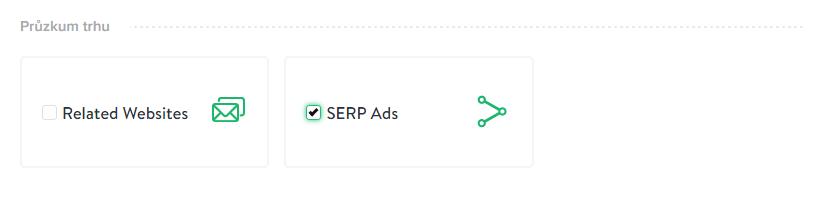 Ukázka výběru SERP Ads mineru